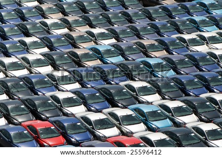 New automobiles background. - stock photo