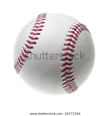 new baseball isolated on white background
