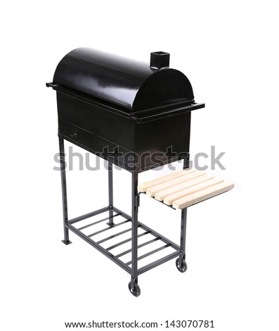 new black barbecue with a cover close