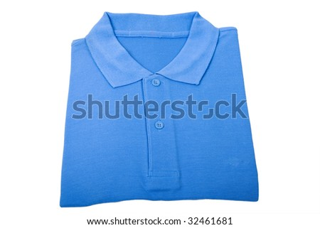 New blue sports shirt isolated on white background
