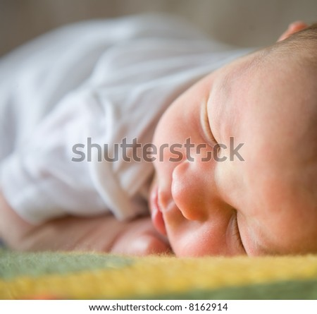 New born baby sleeping