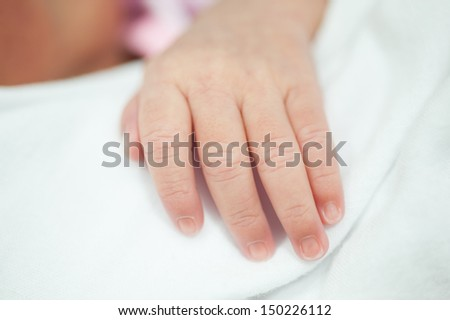 New born hand