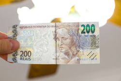 New Brazilian 200 Reais Banknotes Watermark detail