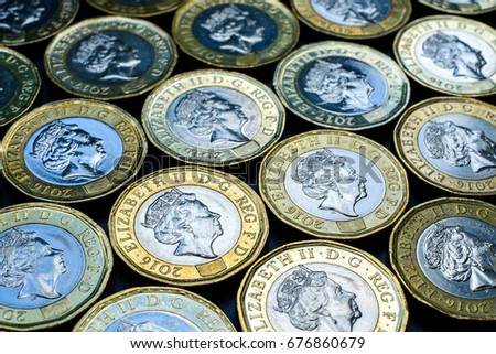 New british one pound sterling coins #676860679