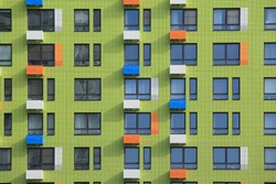 New building facade in housing complex