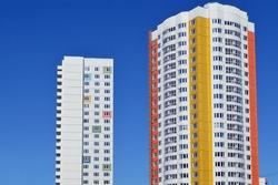 New buildings in an area Novokurkino, Khimki, Russia