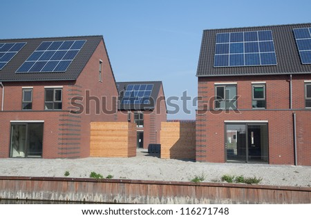 New buildings with solar panels