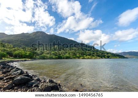 New Caledonia, Mont-Dore, Corniche Park Photo stock ©