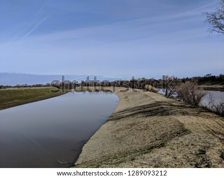 new California levee for flood protection ストックフォト ©