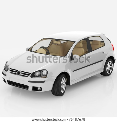 new car isolated on white background