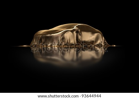 New Car Presentation golden drapery