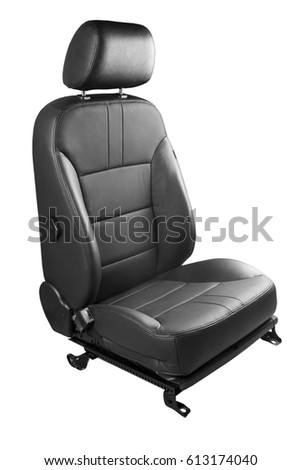 new car seat isolated on white background