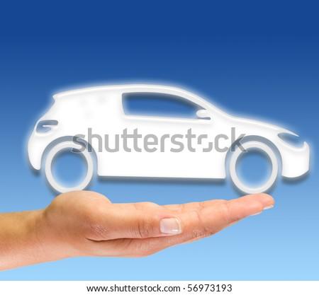 New car symbol - stock photo
