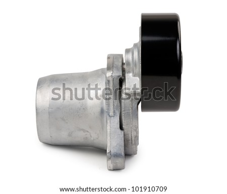 New Car tension roller isolated on white background