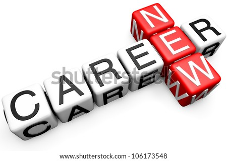 New Career Crossword Block text on a white background