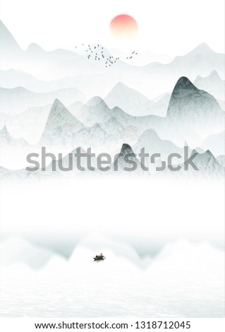 New Chinese style Chinese style ink landscape painting