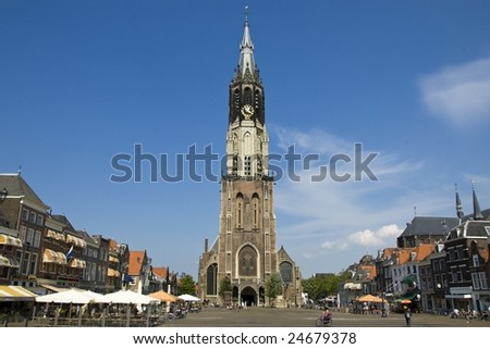 New Church and Market Square in Delft, the Netherlands