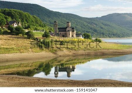 new church of St. Nicholas on the Mavrovo Lake National Park, Republic Of Macedonia