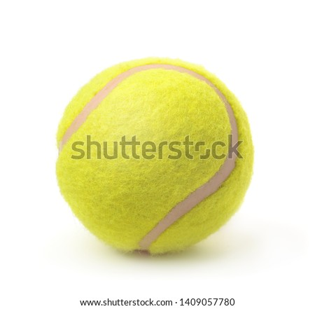 New classic single tennis ball isolated on white #1409057780