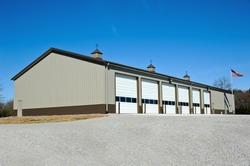 New Commercial Metal Building to be utilized as a New Fire Station.