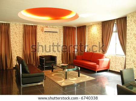 Modern Living Room Designs on New Concept Modern Living Room Interior Design Stock Photo 6740338