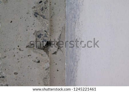 New concrete surface for surface or construction surface.