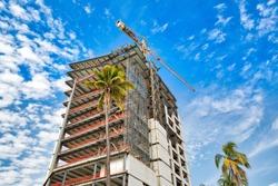 New condominium contruction in Mazatlan Golden Zone (Zona Dorada), a famous touristic beach and resort zone in Mexico