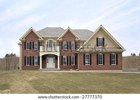 New Construction Brick Home Stock Photo 27777370