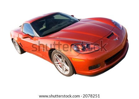 New corvette isolated with clipping path