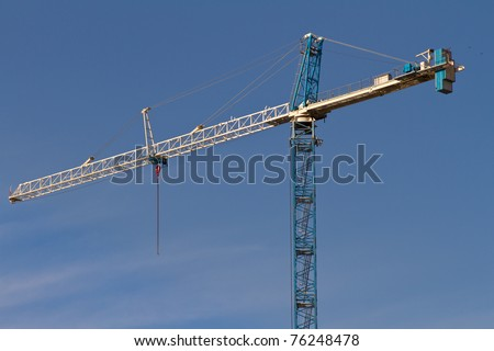 new crane added to the downtown skyline in Miami, Florida