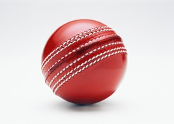 New Cricket Ball Isolated on white background