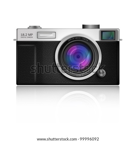 New Design of Digital Camera in Classic Style body,included clipping path