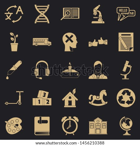 New discoveries icons set. Simple set of 25 new discoveries icons for web for any design