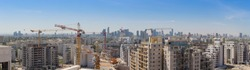 New District In North Tel Aviv - Modern Building And  Constraction Site, Ramat Aviv,  Tel Aviv, Israel, Panorama, panoramic shot