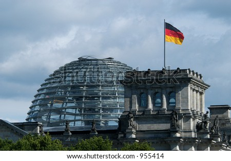 New dome of the Reichstag in Berlin, Germany