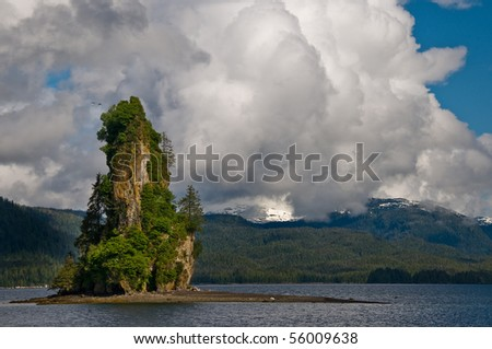 New Eddystone rock in Misty Fjords National Monument, Alaska