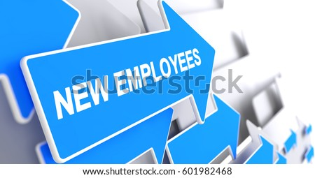 New Employees - Message on the Blue Cursor. 3D.