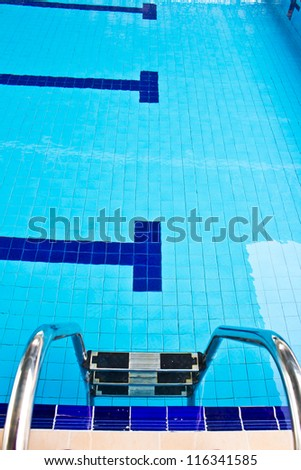 new empty public swimming pool