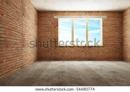 new empty room 3d rendering
