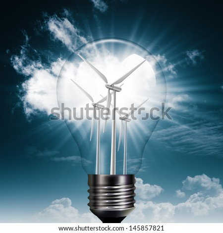 New Energy Generation. Abstract environmental backgrounds