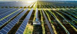 New energy solar energy in sunny day