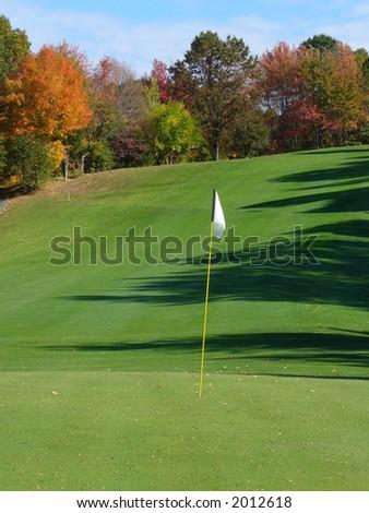 New England Golf Course Fall Foliage