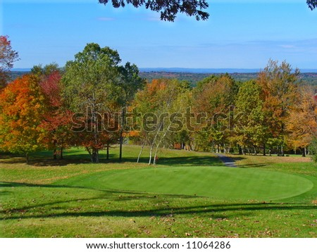 New England Golf Course in Autumn