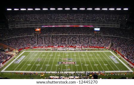 New England Patriots at Gillette Stadium 2007 Playoffs