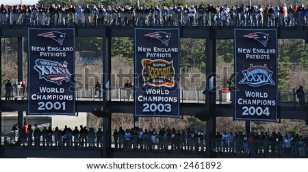 New England Patriots Championship Banners