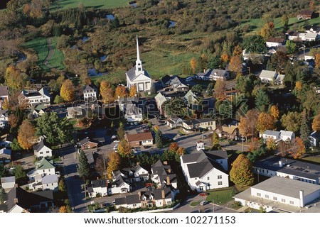 New England village - stock photo