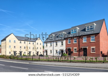 New english estate view