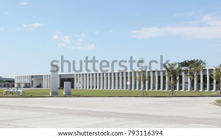 new factory,new industrial building on a trading estate