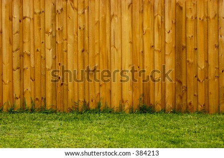 New fence in the backyard in landscape format