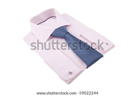 new folded shirt with necktie
